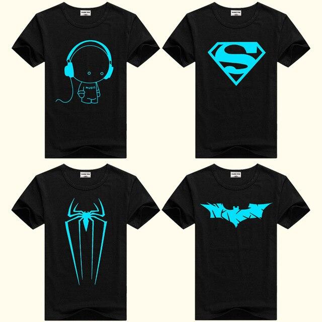 DMDM PIG Boys Luminous Short Sleeve T-Shirts For Girls Tops 8 11 12 13 Years Children Spiderman Tshirt Baby T Shirt Kids Clothes
