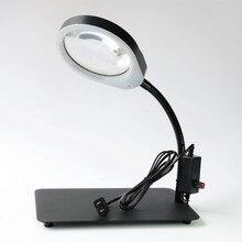 Flexible Foldable Desktop Magnifier Magnifying Loupe with 8x Lens Lamp Desk-type Magnifier with LED Light led light magnifier
