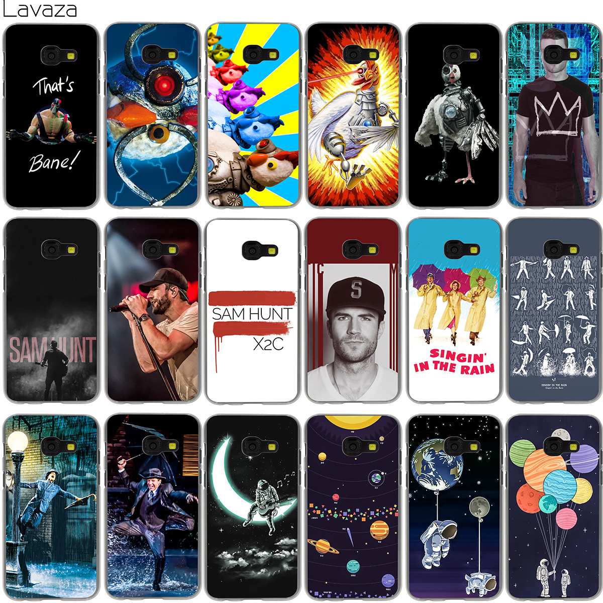 Lavaza Robot Chicken Sam Hunt Singin In The Rain Heart Couples Case for Samsung Galaxy Note 8 A3 A5 A8 J3 J5 J7 2016 2017 2018 ...