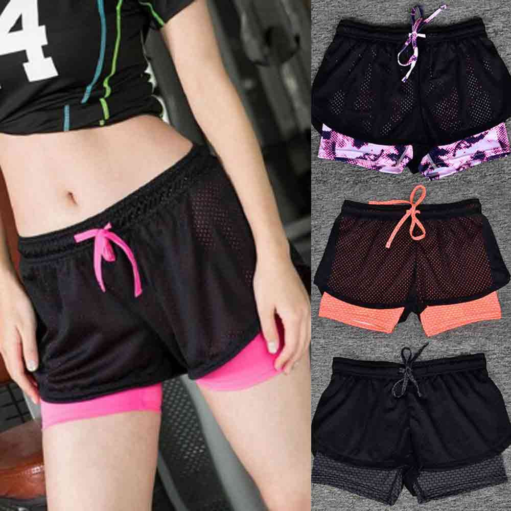 Women Sport Fitness Yoga Shorts 2 In 1 Women Athletic Shorts Cool Ladies Sport Running Short Fitness Clothes Jogging sexy 2 in 1 sport fitness running yoga shorts for women athletic shorts femme running shorts fitness workout clothes
