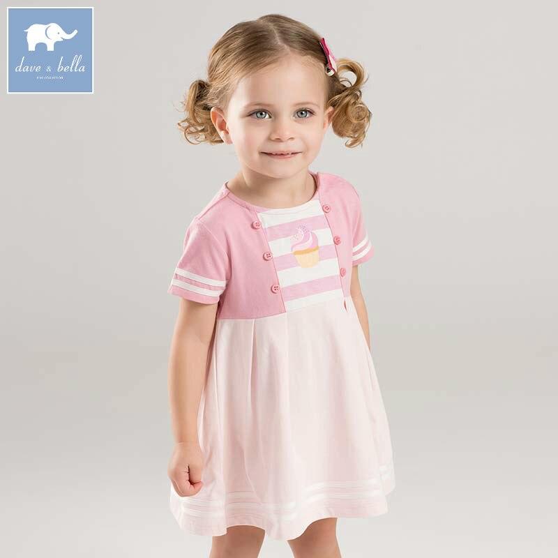 50b01d713a8 Dave bella baby girls dress children princess clothing toddler summer party  wedding costumes kids gown DBF7098