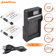 2Pcs 1100mAh akku NB-11L NB11L NB 11L Camera Batteries&LCD SUB Charger for Canon IXUS 125 240HS A3400 A4000 A2300 A2400 z1 L15