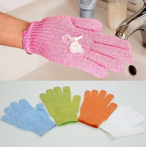 2pcs Bath Shower Gloves Body Skin Exfoliating SPA Massage Mitt Scrubber Scrub Body Scrubber Glove Bath Gloves For Showering