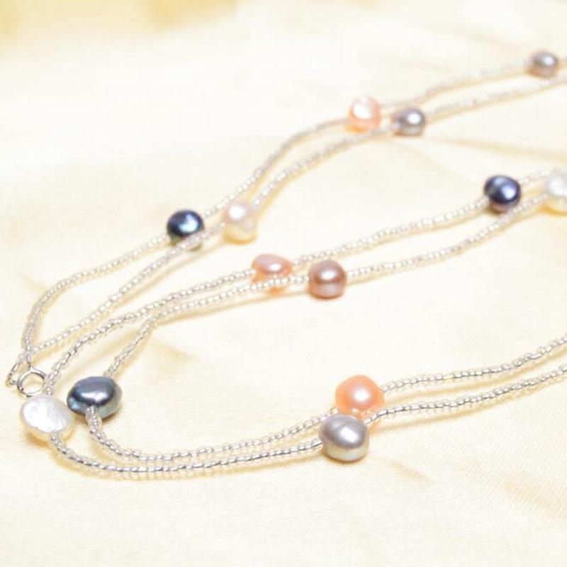 ASHIQI Baroque Mutiara Air Tawar Alami Gelang & Gelang Untuk Wanita - Perhiasan bagus - Foto 3