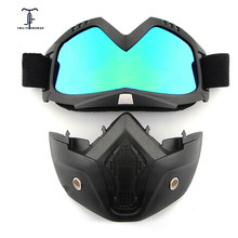 Cycling Dust-proof Full Face Mask Winter Bike Windproof Protective Goggles Men Women Bicycle Snowboard Ski Masks Anti-UV Glasses