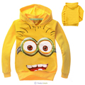2016 New Arrival Boys & Girls hoodies and sweatshirts spring autumn Minions Kids Brand Cartoon Hooded Clothes Children baby wear