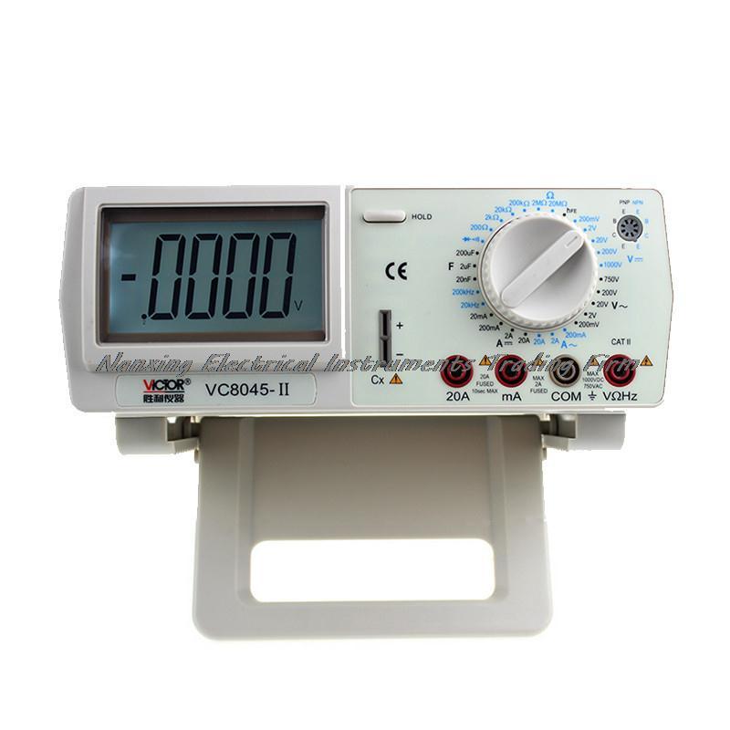 Fast arrival VICTOR VC8045-II Bench Top 4 1/2 True RMS DCV/ACV/DCA/ACA DKTD0122 precision desktop multimeter victor vc9808 3 1 2 digital multimeter dcv acv dca r c l f