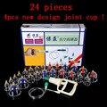 24 pcs massagem magnética ventosa massagem acupuntura escavação vácuo cupping terapia set engrosse à prova de explosão-copo