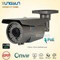 Super HD H.265 4MP Câmera IP Varifocal 2.8-12mm lente Zoom OV4689 + HI3516D Segurança de Rede PoE Onvif Bala CCTV Ao Ar Livre câmera