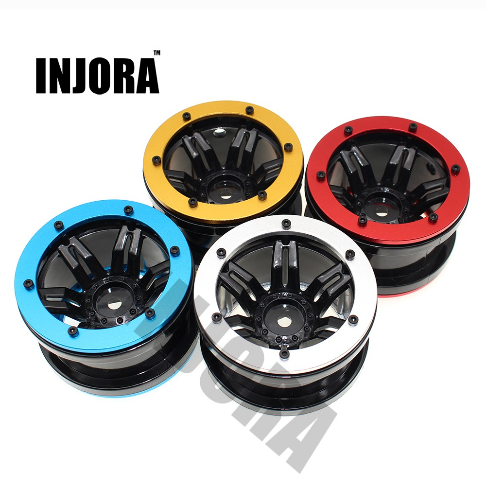 4PCS 2.2 Beadlock Wheel Rim for 1/10 RC Rock Crawler Axial SCX10 RR10 Wraith 90056 90045 90031 90020 YETI 90026 90025 2pcs 2 2 metal wheel hubs for 1 10 scale rc crawler car nv widen version outer beadlock wheels diameter 64 5mm width 43 5mm