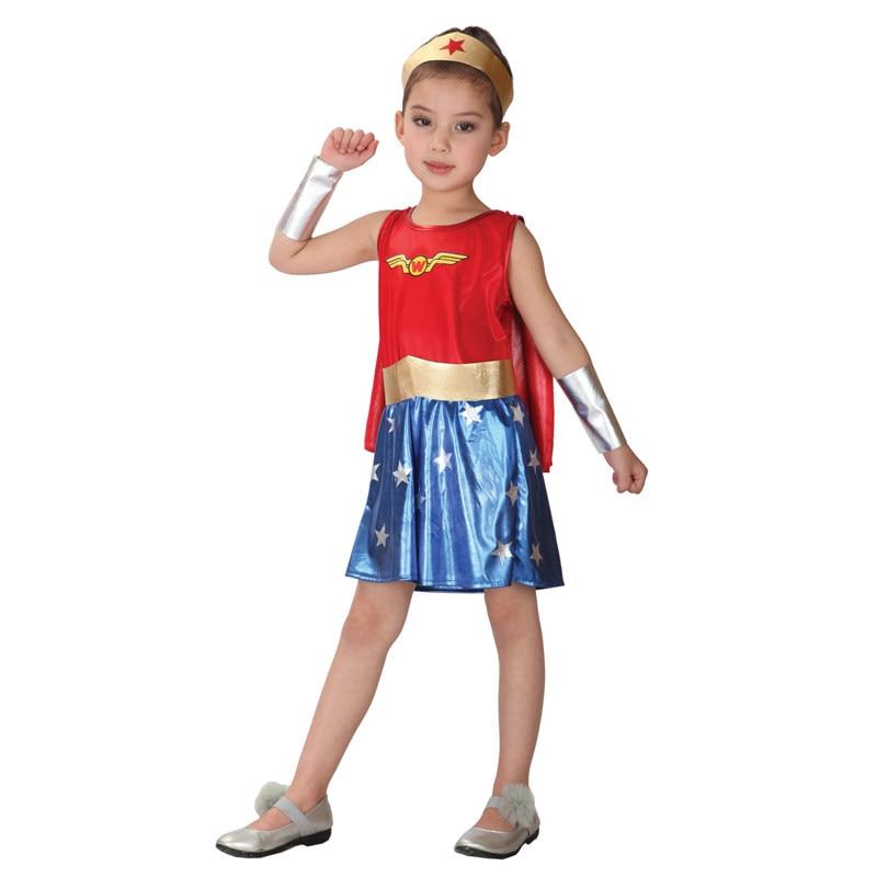 Wonder Woman Halloween Costume Kids.Umorden Halloween Costumes Kids Super Hero Spider Man Bat Man Costume Captain America Wonder Girl Cosplay For Girls Boys