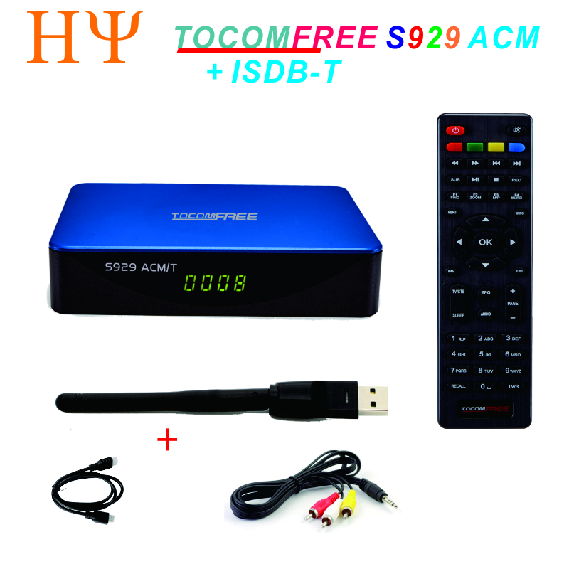 TOCOMFREE S929 ACM/T H.265 DVB-S2 satellite receiver support ISDBT ACM IKS SKS Newcamd CCCam for south America