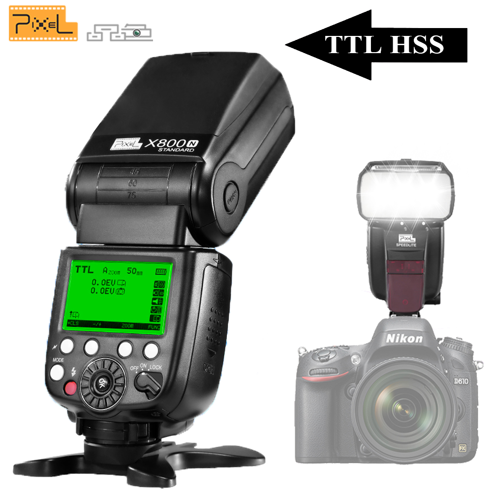 US $77 68 21% OFF|For Nikon D3100 D3200 D5200 D5300 D7100 D7200 Digital  Camera Pixel X800N Standard Flash Shoe Mount TTL Wireless Flash  Speedlite-in