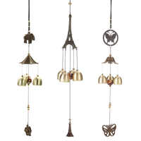 Antique Wind Chime Cooper Tubes Bells Windchimes Outdoor Living Yard Garden Wall Hanging Decoration Ornaments