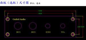 Image 4 - 12 V Karaoke Ses Kartı PT2399 ile NE5532 Preamplifikatör Mikrofon Amplifikatör + Panel