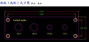 Image 4 - 12 V Karaoke Sound Board PT2399 met NE5532 Voorversterker Microfoon Versterker + Panel