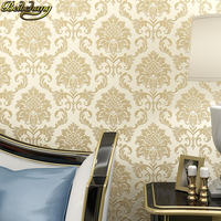 European Damascus Luxury TV Background Wallpapers Papel De Parede 3D Wall Paper For Living Room Bedroom