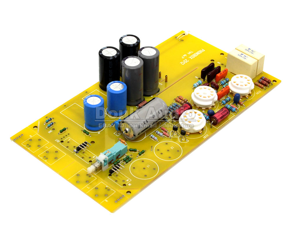 Douk Audio HiFi MM Phono Pre-Amplifier Vinyl Tube PHONOBOX TIM deP Board Pre-amp Valve Amplifier Board tube mm phono stage amplifier board pcba ear834 circuit vinyl lp amp no including 12ax7 tubes riaa hifi audio diy free shipping