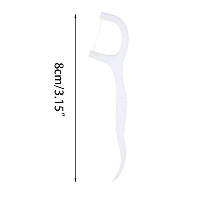 1 Pc de plástico desechables hilo Dental palos de limpieza Cuidado Oral higiene palillo de dientes individualmente envuelto en papel suministros de Hotel