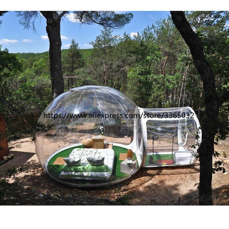 Best качество 4 м купол открытый прозрачный надувной кемпинг пузырь палатки с каркасом туннеля для продажи