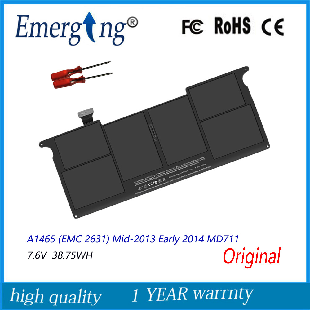 7.6v 38.75Wh New Original A1495 Laptop <font><b>Battery</b></font> for Apple <font><b>MacBook</b></font> <font><b>Air</b></font> <font><b>11</b></font>