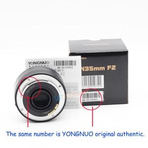 Image 5 - YONGNUO YN 35mm F2 Camera Lens voor Nikon Canon EOS YN35MM Lenzen AF MF Groothoek Lens voor 600D 60D 5DII 5D 500D 400D 650D 6D 7D