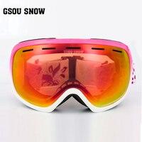 Gsou雪ダブルスノーボードゴーグル、屋外登山
