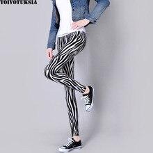 TOIVOTUKSIA Womens Zebra Leg Leggings Black Milk Flame Print Designer Pants Women Legging Summer Black Milk Spandex Leggins