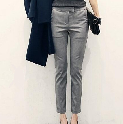 4f558d4fa81 2019 New Ol Style Women Office Pants Work Wear Trousers Black Gray Womens  Skinny Pencil Pants Women Pantalon Femme