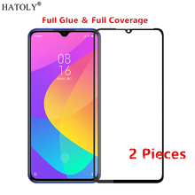 2Pcs Xiaomi Mi CC9 Glass Tempered for Film HD Full Glue Cover Hard Phone Screen Protector