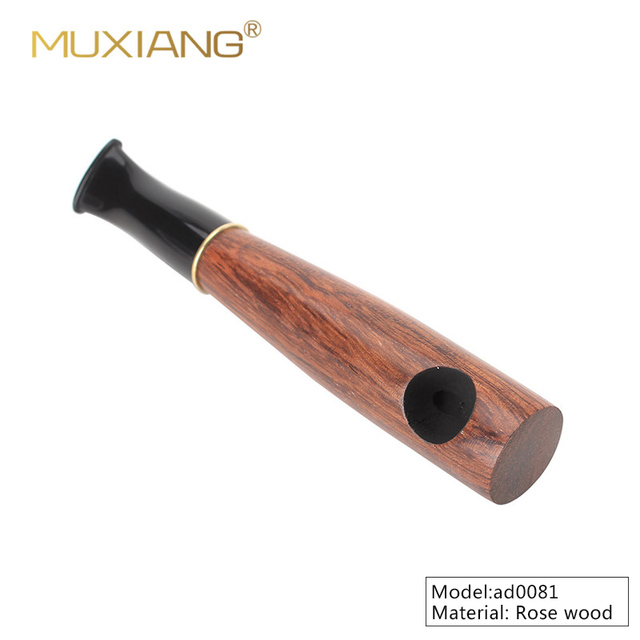 MUXIANG-tuyau de tabac en bois fait à la main | Petit tuyau Portable avec filtre de 9mm, peut fumer tabac et cigare ac0034/ad0081