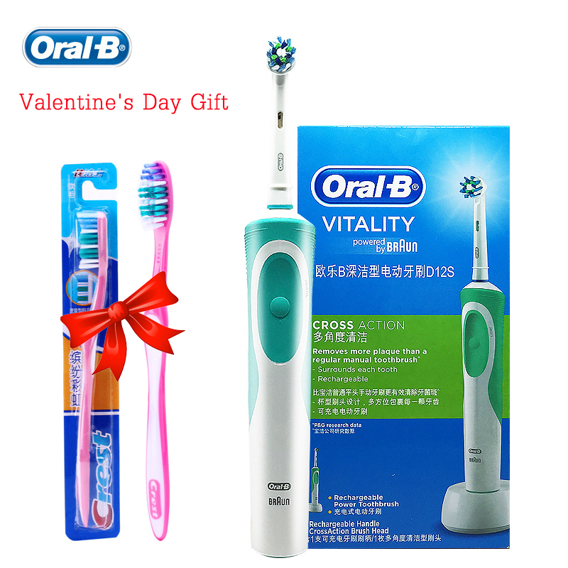 Oral B Vitality D12 Sonic Electric Toothbrush Rotating Rechargeable Precision Clean Teeth Brush Imported From German Brush Teeth pro teeth whitening oral irrigator electric teeth cleaning machine irrigador dental water flosser teeth care tools m2