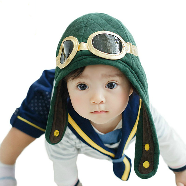 ce420f51590 Toddlers Cool Pilot Aviator Hat Baby Boys Girls Hats Kids Winter Warm Cap  Hat Beanie Ear