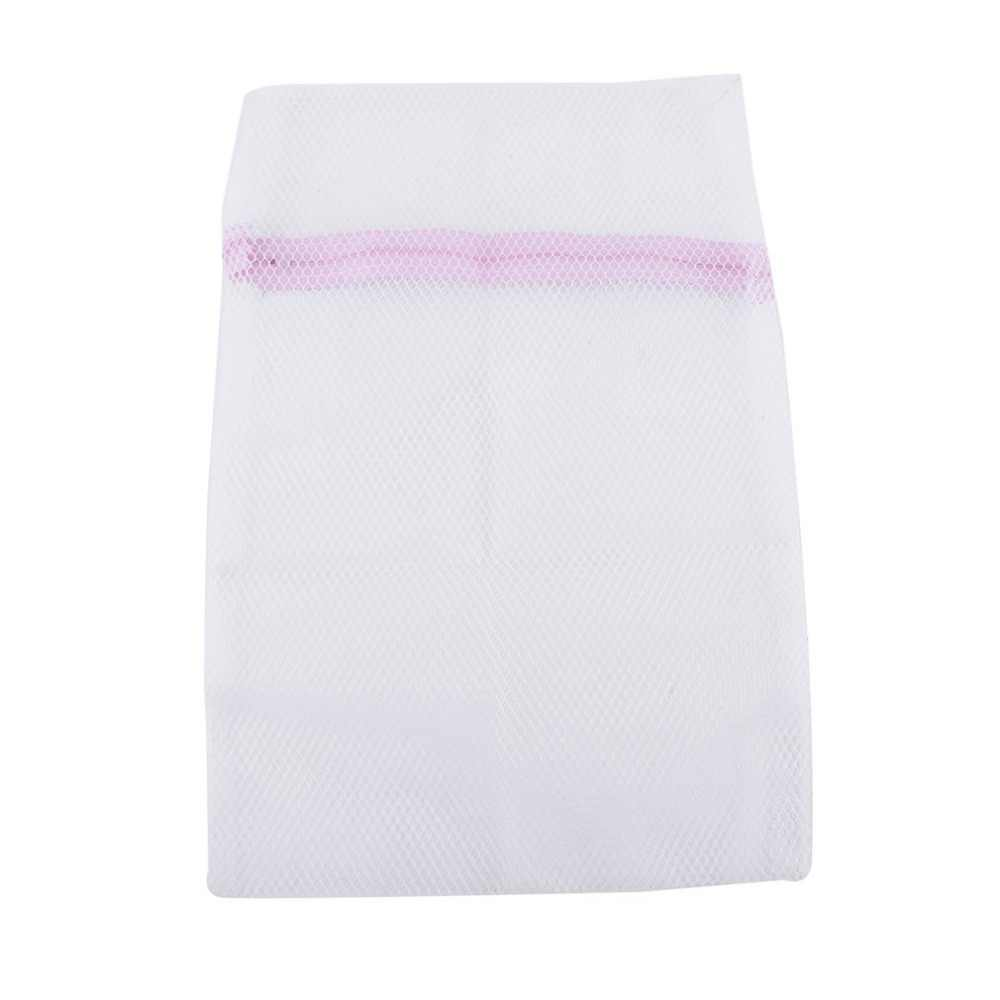 2 Size Zippered Mesh Laundry Wash Bags Delicates Lingerie Bra Socks Underwear Washing Foldable Machine Clothes Protection Net