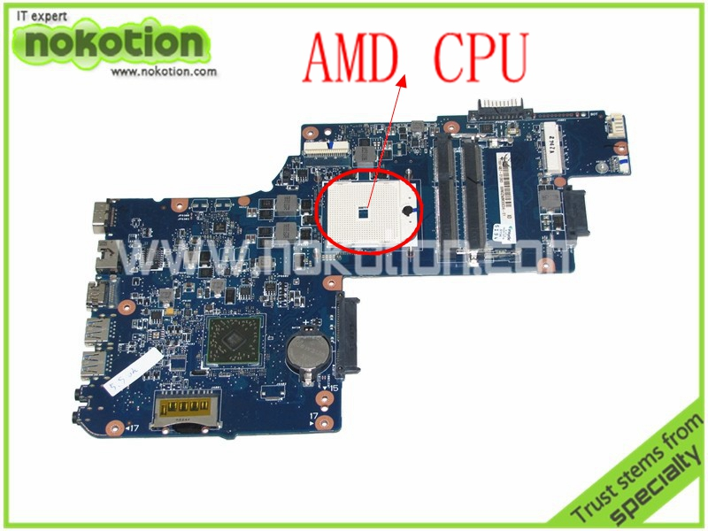 NOKOTION Laptop Motherboard for Toshiba Satellite L850D C850 PLAC CSAC UMA MAIN BOARD REV 2.1 DDR3 Mainboard H000041530 nokotion for toshiba satellite c850d c855d laptop motherboard hd 7520g ddr3 mainboard 1310a2492002 sps v000275280