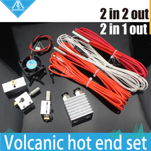 3D Printer Cyclops and Chimera Extrusion 2 in 1 out hotend Multi Color Extruder kit+Volcano block nozzle hot end kit