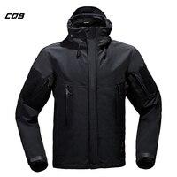CQB Высокое качество зимняя верхняя флисовая куртка Для мужчин Рыбалка Отдых на природе Охота Одежда Водонепроницаемый Лыжная куртка