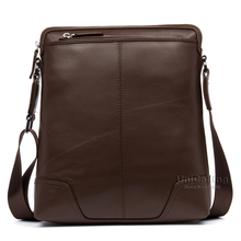 Messenger bag men leather brief style brand fashion cow leather men shoulder bag