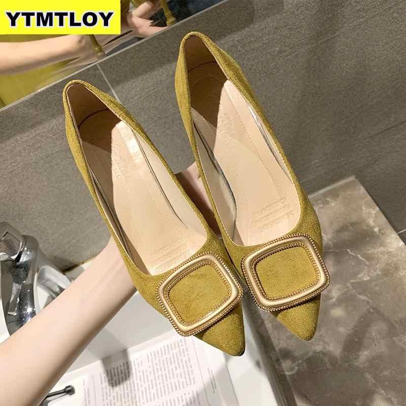 Artı Boyutu 33-43 Kadın Pompaları 2019 Yeni Topuklu Bahar Yüksek Ayakkabı Bayanlar Seksi Düğün Stiletto Zapatos De Mujer lüks Yüksek Topuklu