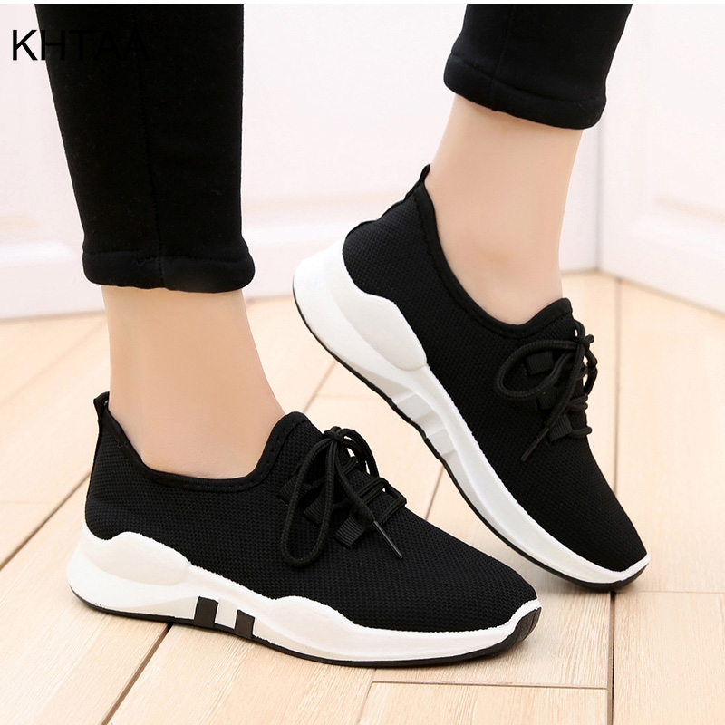 Flat Platform Plus Size Women's Sneakers Casual Fashionable Autumn Vulcanized Shoes Lace Up 2018 Mesh Breathable Ladies Footwear men fashionable lace up shoes with mesh fabric