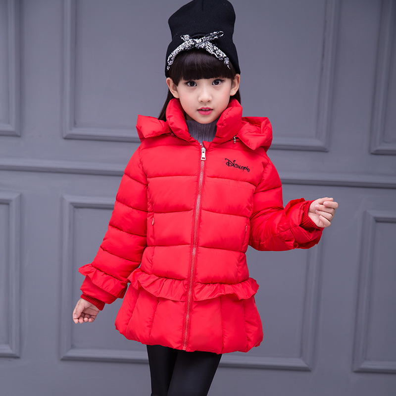 5 7 9 11 13 Year New 2017 Warm Thick Girl Coat Kids Hooded ...