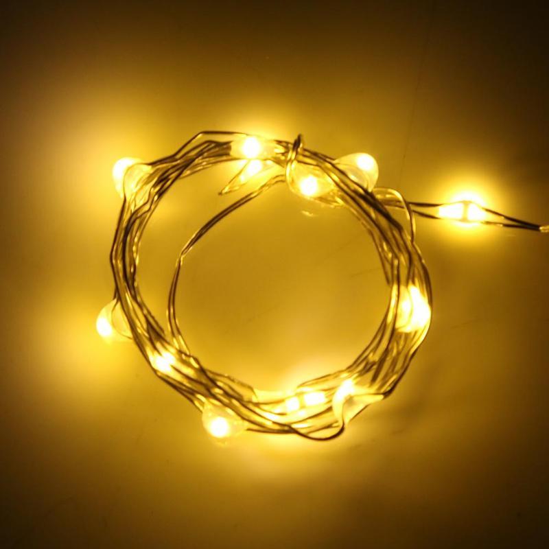 1M 10 LED String Light Lamp Bottle Stopper Glass Wine Waterproof Solar Energy Wire String Light Christmas Decor Lighting Light