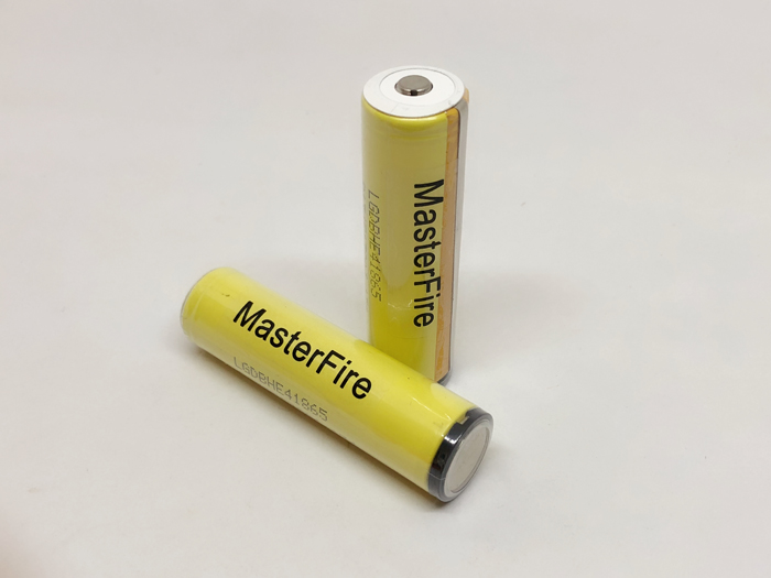 2pcs lot New MasterFire For LG HE4 Chem 18650 ICR18650HE4 30A 35A discharge lithium battery cell 2500mah batteries in Rechargeable Batteries from Consumer Electronics