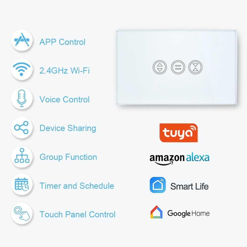 Tuya inteligentny dom WiFi przełącznik kurtyny na elektryczny zmotoryzowany kurtyny rolety rolety Google Home Alexa Echo sterowanie głosem DIY