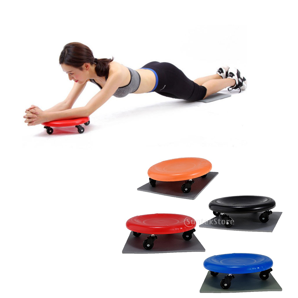 Perfeclan Upgraded Fitness Workout Ab Roller Wheel Core Strength Abdominal Training Exerciser with Knee Mat for Women Men image