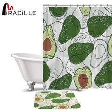 Набор ковриков для штор miracille avocado ванной комнаты водонепроницаемая