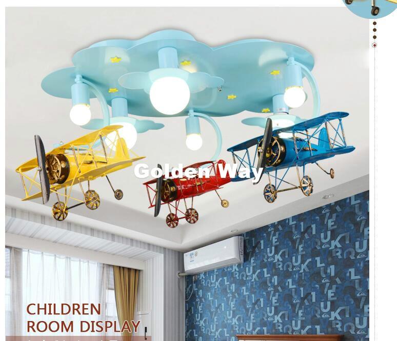 Free Shipping Children Lights Children Ceiling Lamp Plane Design Decora Bedroom Light E27 110V 220V Remote Controller Included