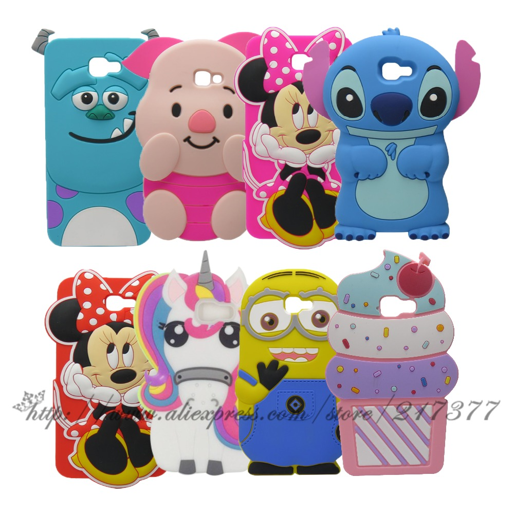 Samsung galaxy j7 for element 3d - For Samsung Galaxy J7 Prime 3d Cartoon Minnie Stitch Sulley Silicone Back Cover Case For Samsung