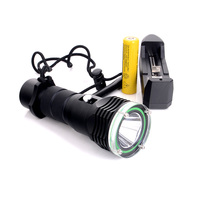 XM L L2 1200 Lumens LED Diving Flashlight Scuba Diving 100M With Battery + Charger FreeShipping