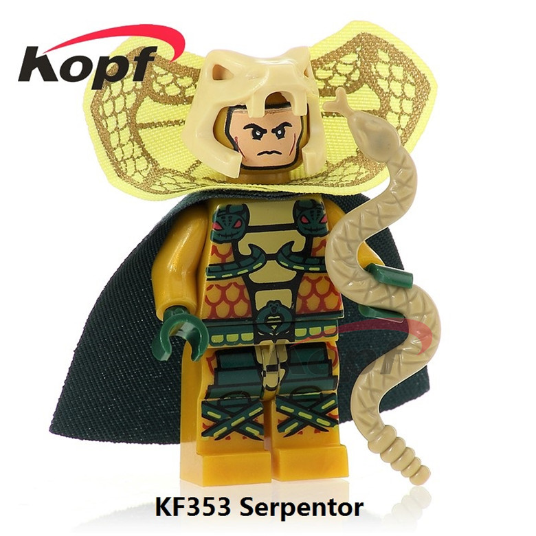 20Pcs KF353 Super Heroes Serpentor Firefly Power Girl Snake Eyes Gi Joe Series Bricks Building Blocks Action Gift Toys children
